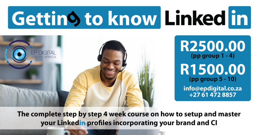 Getting to know Linkedin - Training advert